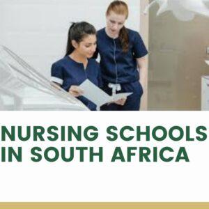 Nursing schools in South Africa