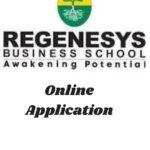 Regenesys Business School Online Application